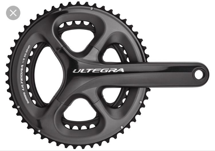 Ultegra 6800 175 mm 53-39T11delat gått ca 10rundor